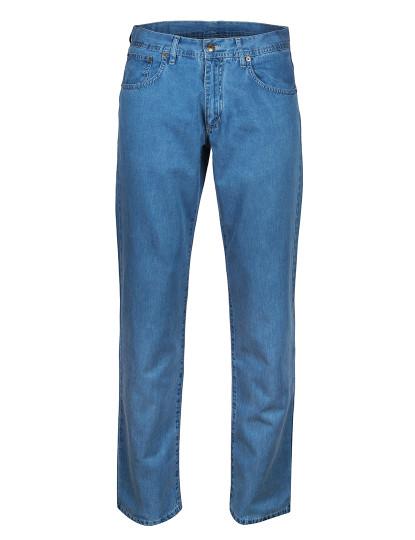Calças De Ganga Mr Blue Cintura Subida Azul Claro
