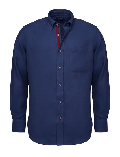 Camisa Flanela Lisa Mr Blue Azul