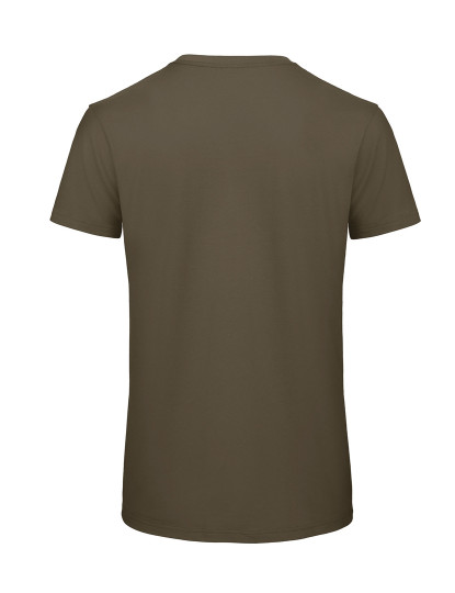 T-Shirt Organic Inspire de Homem Com Decote Redondo Khaki