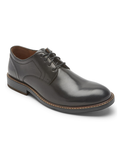 Sapatos Rockport Kenton Plain Toe Preto Glass
