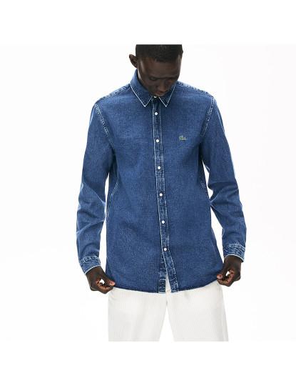 Camisa Lacoste de Homem Azul médio