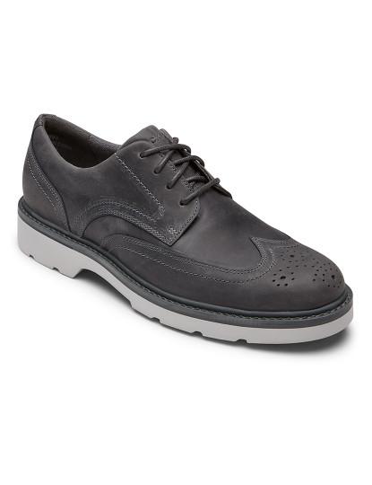 Sapatos Rockport Charlee Wingtip Cinza de Homem
