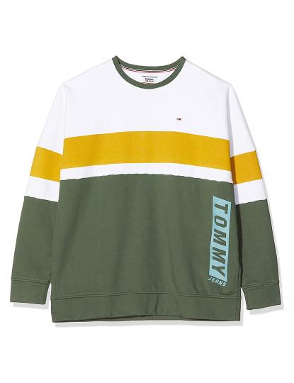 Camisola Tommy Jeans Boxy Block Cn Verde-Branco-Amarelo de Homem