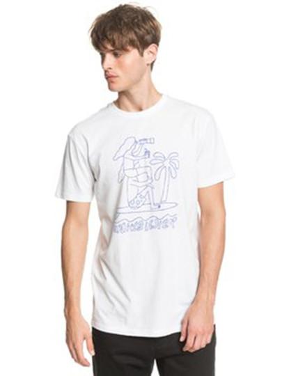 T-Shirt Quiksilver Homem Turning Branco