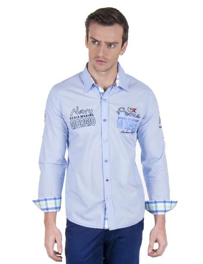 Camisa Giorgio di Mare Cashmere Azul