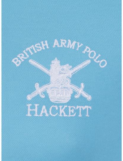 Pólo M. Curta Hackett Homem Azul
