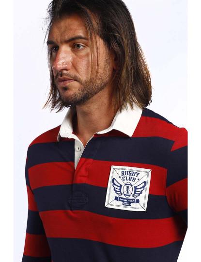 Pack Pólo Rugby The Time Of Bocha Homem Verde-Azul Marinho-Bordeaux