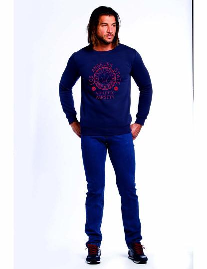 Sweatshirt The Time Of Bocha Homem Azul Marinho