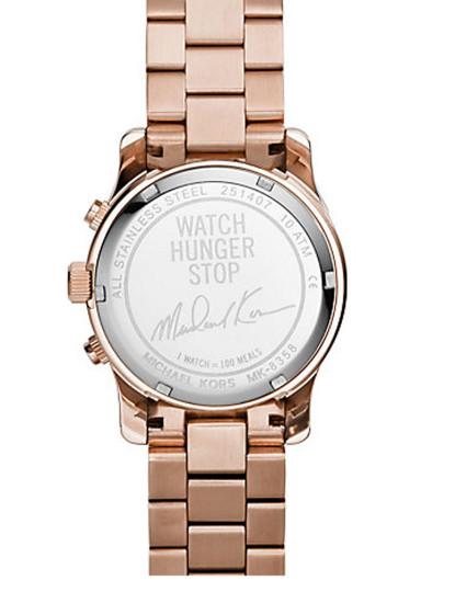 Relógio Michael Kors Rosa metálico&Cinza