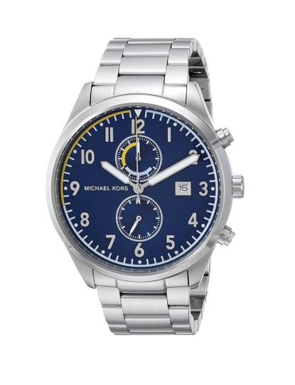 Relógio Michael Kors Prateado e Azul
