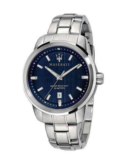 Relógio Maserati Successo Prateado e Azul