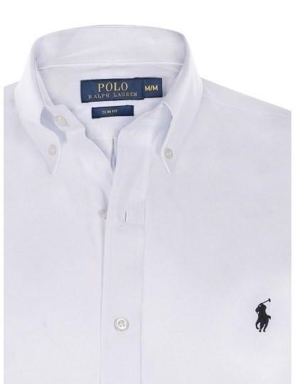 Camisa Ralph Lauren M. Comprida Branco Homem