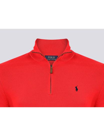 Camisola c/ Fecho Zip Ralph Lauren Homem Vermelho/Azul Navy