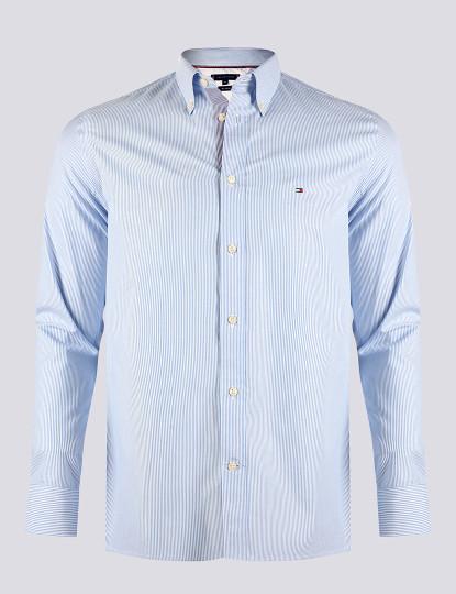 Camisa Tommy Hilfiger Homem Azul/Branco