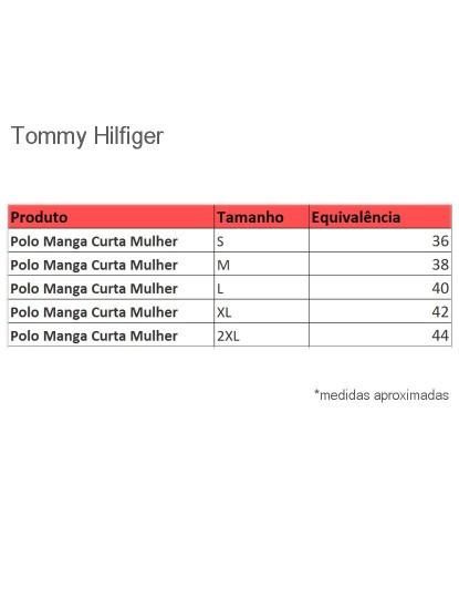 Pólo M. Curta Tommy Hilfiger Senhora Branco
