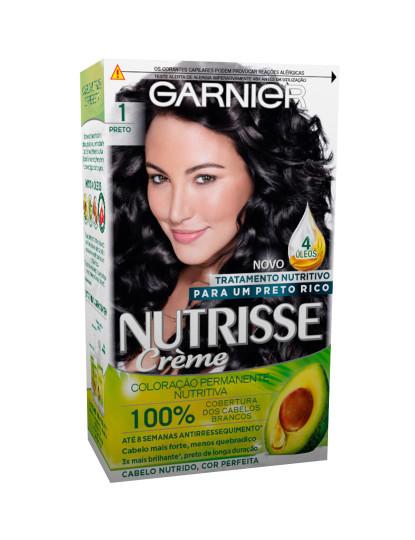 L`Oréal Coloração Permanente Nutrisse Creme Preto 1.0