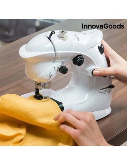 Máquina de Costura Compacta InnovaGoods 6 V 1000 mA Branco