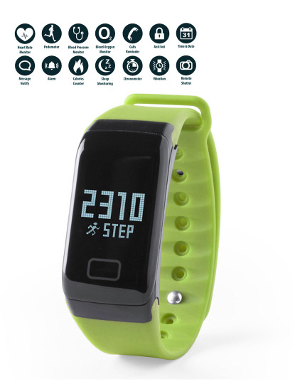 Pulseira Inteligente look like Fitbit Verde