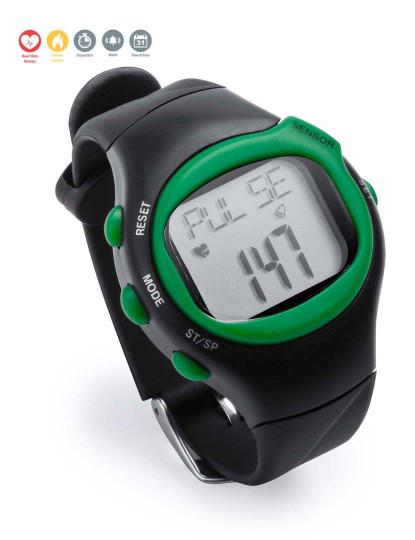 Relógio Desportivo com Medidor de Pulsação Cardíaca Verde