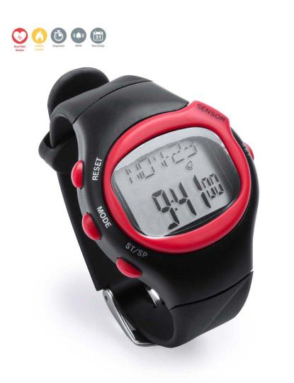 Relógio Desportivo com Medidor de Pulsação Cardíaca Vermelho