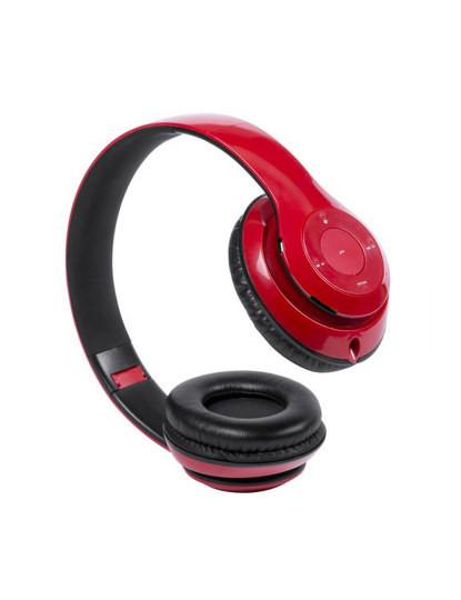 Auriculares Headphones Bluetooth Vermelho