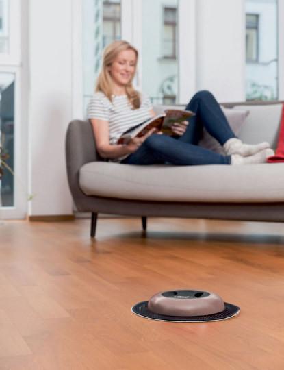 Mopa Robot Virobi Slim Rosé (Edição Limitada), Autónomo C/ Panos Descartáveis