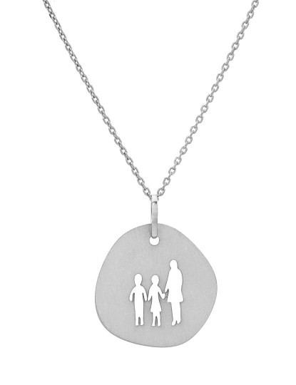 Medalha Mulher com menina e menino