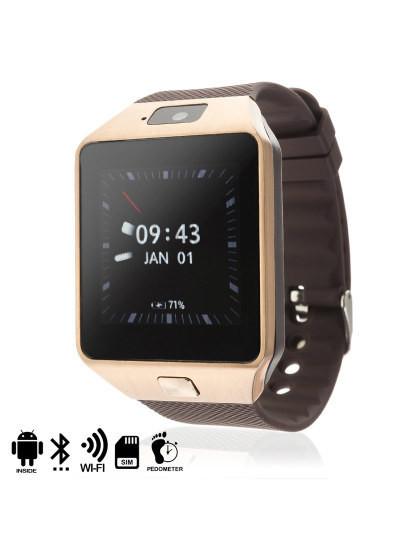 Smartwatch Phone Android 4.4 Wifi e Camera Dourado