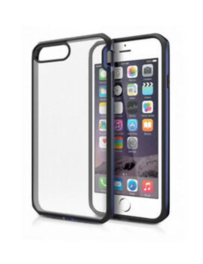 Capa iTSkins p/ Apple iPhone 8 Plus / 7 Plus - Azul aço e preta