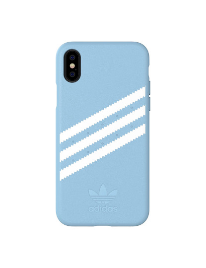 Capa Adidas Moulded Suede Fw18 Iphone X, Xs - Azul e Branco