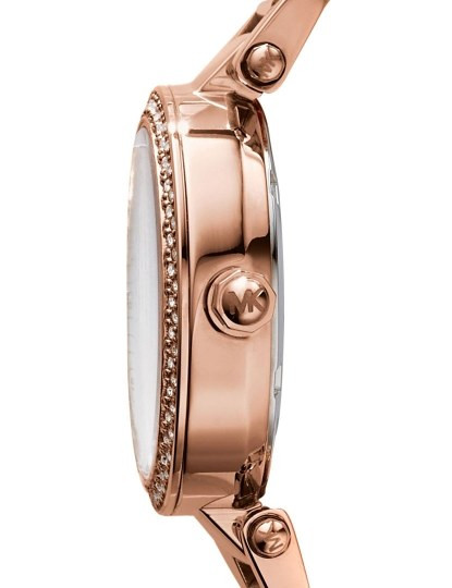 Relógio Michael Kors Mini Parker Dourado Rosa