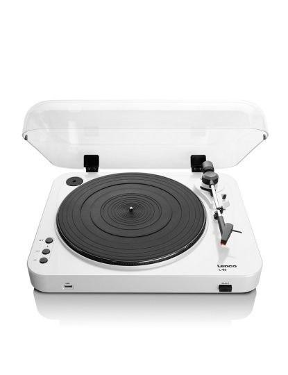 Gira-Discos dos anos 70`s L-85 versão Vintage cor Branco