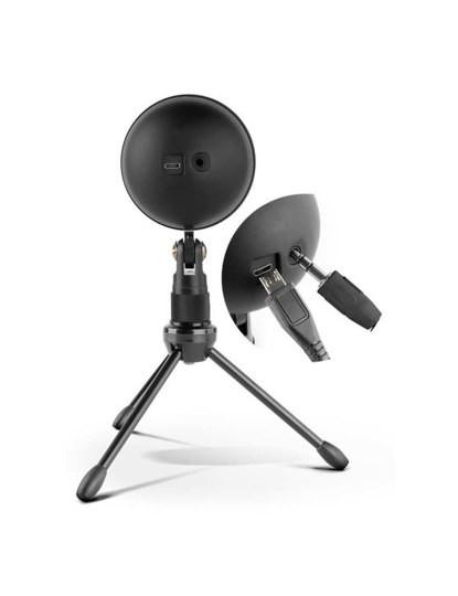 Microfone de mesa USB Preto