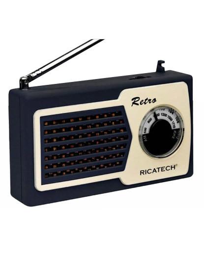 Rádio Retro Am/Fm Ricatech com coluna