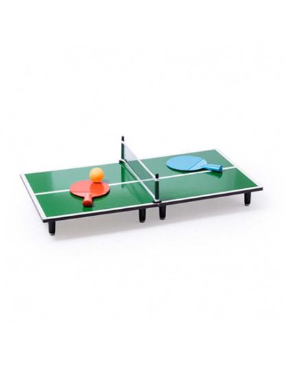 KIDS Mini Ping-Pong de Madeira (2 raquetes+bola incluidas)