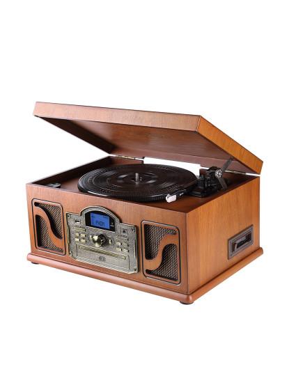 Gira Discos Lauson em Madeira c/ Função Encoding MP3 e Bluetooth Vintage