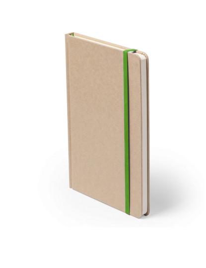Caderno 100 folhas cartão reciclado Verde