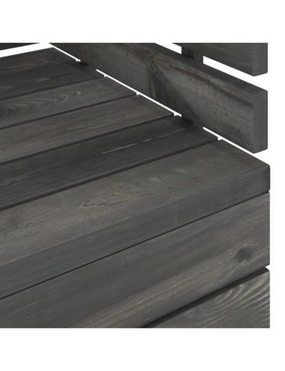 4 Pcs Conj. Lounge de Paletes Cinza Escuro