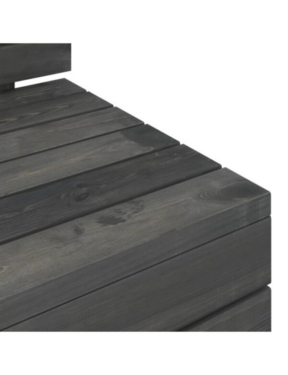5 Pcs Conj. Lounge de Paletes Madeira Cinza Escuro
