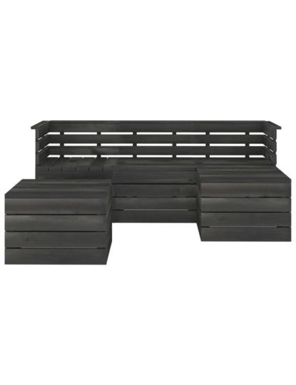 5 Pcs Conj. Lounge de Paletes Cinza Escuro