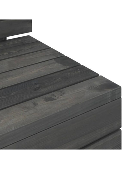 12 Pcs Conj. Lounge de Paletes Cinza Escuro