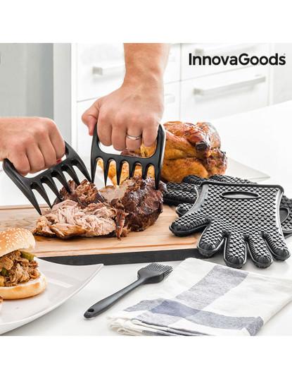Garras para Carne com Luvas e Pincel InnovaGoods
