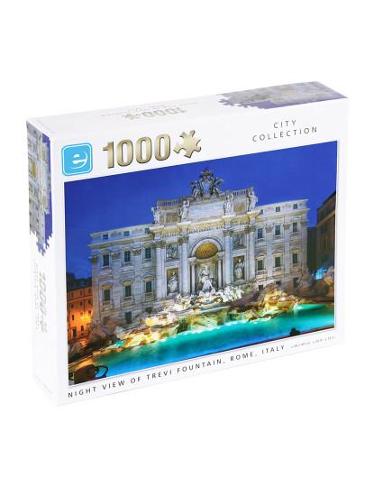 Puzzle 1000pcs Vista Noturna Fonte De Trevi