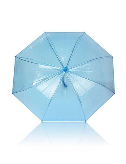 Chapéu-de-chuva transparente / Azul