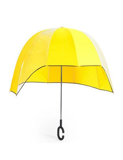 Chapéu-de-chuva casa + handsfree - Amarelo