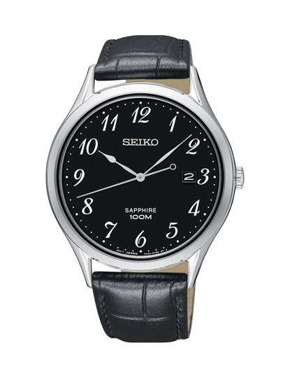 4a89c27c089 Relógio Seiko Quartz Classic Prateado E Preto Homem