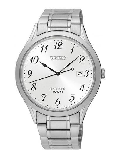 ef603ed870d Relógio Seiko Quartz Classic Prateado E Cinza Homem