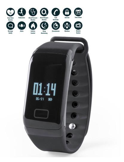 Pulseira Inteligente look like Fitbit Preto