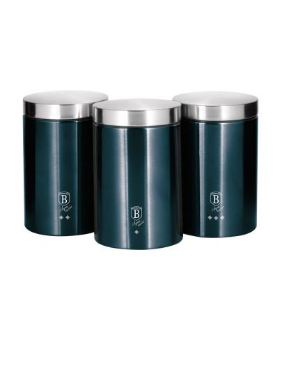Conj. 3 Caixas Metálicas Berlinger Edição Azul Marinho