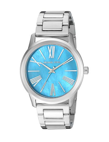 Relógio Michael Kors Hartman Prateado e Azul